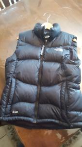 Women's Black North Face Puff Vest Medium