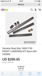 Lowering kit fourche Yamaha RoadStar