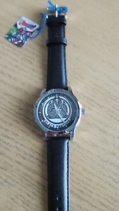 NEW PRICE  BRAND NEW BLACLK PANTHER LETHER STRAP WATCH