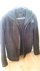 Like new Danier leather coat - size M tall