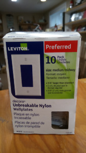NEW Wall plates - package of 10, all NEW in Box.