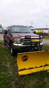 2004 Ford F-250 Super Duty XLT-CREW CAP-DIESEL with newer plow Kitchener / Waterloo Kitchener Area image 2
