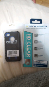 IPhone 4S screen protector and case