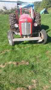 1964 Massey Ferguson Diesel Tractor with chains