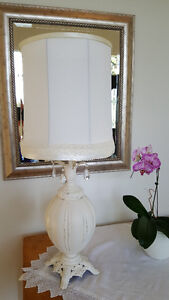 "Antique 'shabby chic"" lamp"