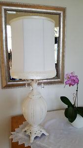 "Antique 'shabby chic"" lamp"