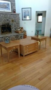 Beautiful coffee table and end tables