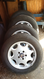 195/65R15 Continental ProContact on 5x112 Mercedes Rim