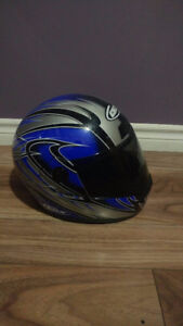 Casque de moto CKX Bleu