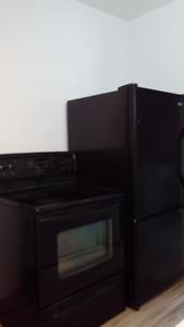 Réfrigérateur congélateur au bas et cuisinière