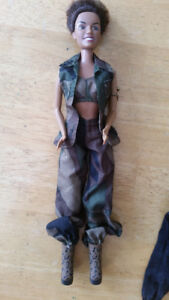 Spice girls barbie doll and clothing