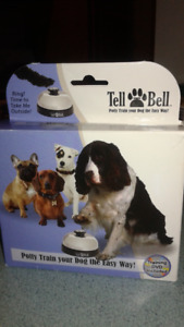 Tell Bell...dog training device, comes with DVD & Instructions