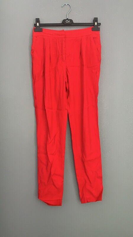 Pantalon fluide mango t34 rouge