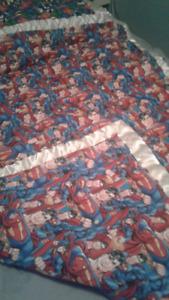 Superman crib blanket