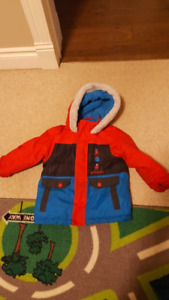 2T snow suit, hat and mitts