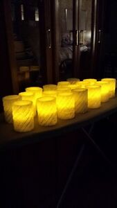 Wedding Candles That Light Up (White with sliver sparkles) Cornwall Ontario image 1