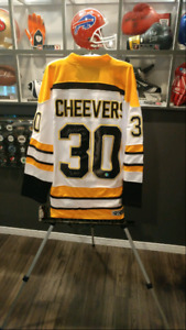 Gerry Cheevers Autographed Jersey with RARE Inscription