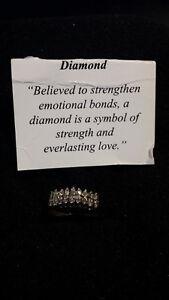 Exquisite Diamond Step ring