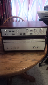 Luxman M-120A and Luxman C120A .120 watts per channel . This is