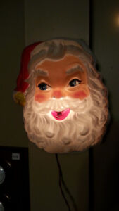 VINTAGE LIGHT UP SANTA CLAUS - CHRISTMAS DECORATION