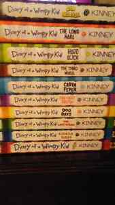 Dairy of a wimpy kid book collection