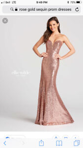 Rose Gold Prom Gown