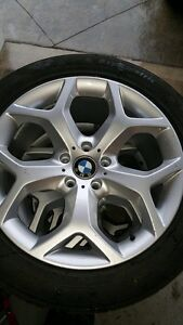 BRAND NEW BMW Rims with USED Winter Tires