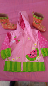 Size 2T Rain Jacket and boots