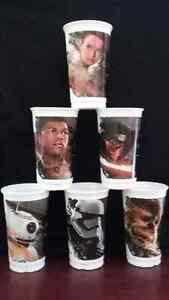 Stars Wars plastic subway cups / verres en plastique subway