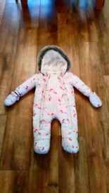 Baby snowsuit f+f for 6 to 9 months