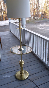 Pole Lamp and Table