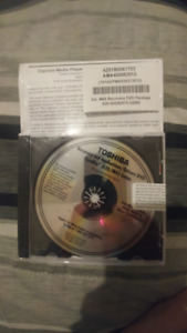 Toshiba Recovery and Application/Drivers DVD