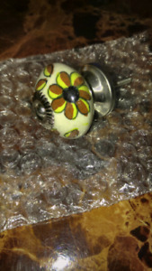 Hand painted ceramic furniture knobs for sale