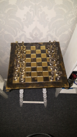 Old antique chessboard