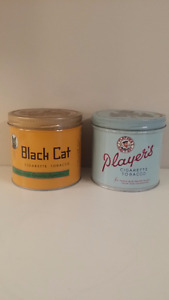 BLACK CAT & PLAYER'S TOBACCO TINS***FIRST $50 GETS BOTH**
