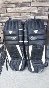 "Size 33"" Cooper goalie pads"
