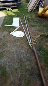 Small sail boad amd motor