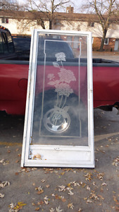 Screen door with frame