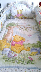 "FOR SALE ---- ""Pooh Classic"" Crib Bedding - 7 Piece Set"