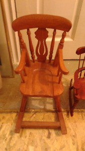collection of small wooden chairs