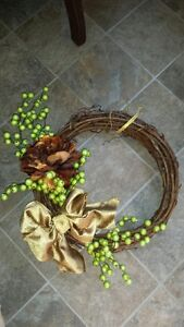 DECORATED WREATHS.