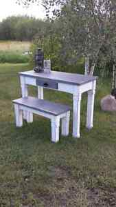 Rustic style entryway table and bench  Strathcona County Edmonton Area image 4