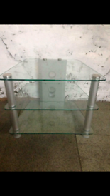 Corner Glass Tv stand in excellent condition.