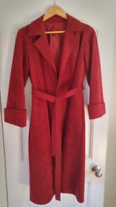 Ladies Red Suede Coat