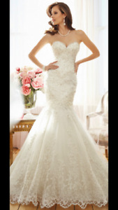 Beautiful Sophia Tolli Wedding Dress Size 20 but fits like a 16