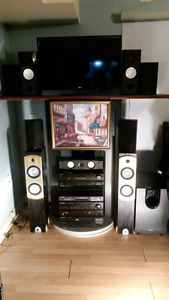 Onkyo reciever 300/ with subwoofer and pioneer reciever for 200
