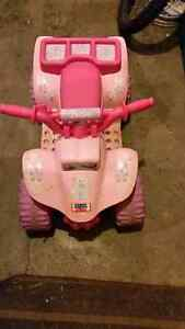Power Wheels Barbie quad.