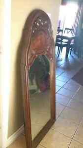 Flax wood mirror