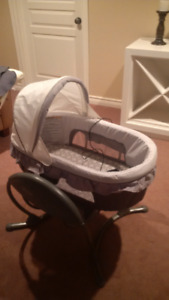 Baby swing combo glider bassinet and swing