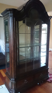 Thomasville WOOD GLASS Hutch Curio Cabinet Display DINING ROOM